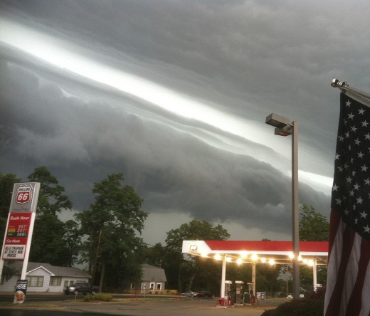 The June 29, 2012 derecho strikes LaPorte, Indiana during its 600 mile (1000 km) journey across the eastern United States