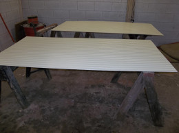 I primed the  beadboard in Richard's shop