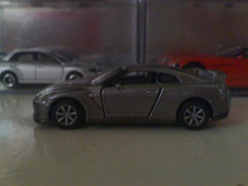 Tomica diecast replica of Brian's Nissan GTR R35 of the movie Fast Five