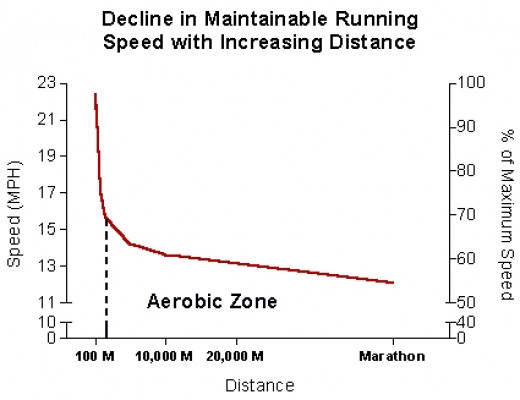 Decrease in average running speed with distance and its relationship with anaerobic metabolism