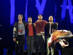 Coldplay on Tour with Weird Horse
