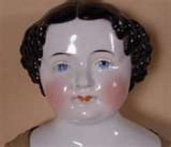 China doll heads were popular gifts to be given and then made into dolls by the owners.