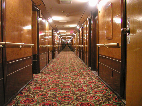 This is the B Deck of the Queen Mary