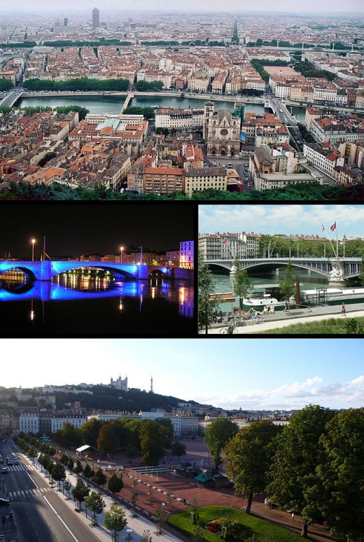 Lyon, France Montage