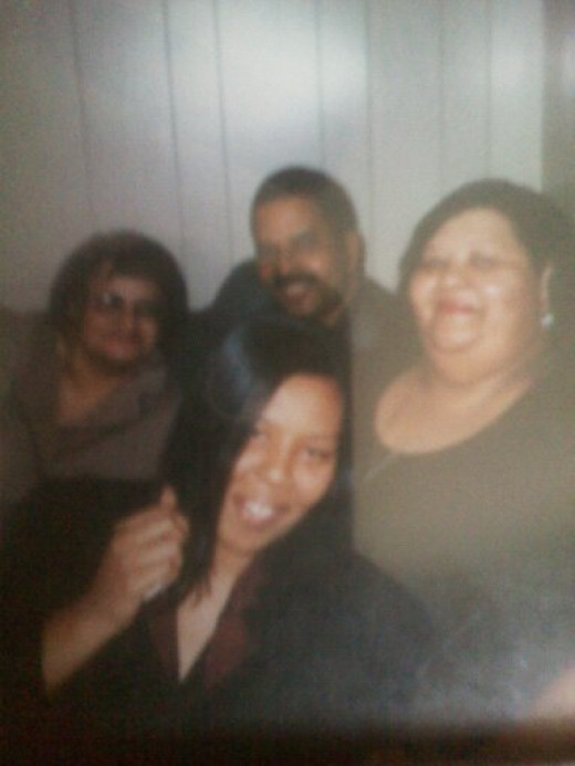 Me, Mom, her baby sister Annette, and her twin brother Perry