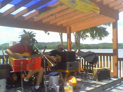 Mike Kruse and Jamonn Zeiler at The Sunset Bar & Grill deck in Warsaw, KY