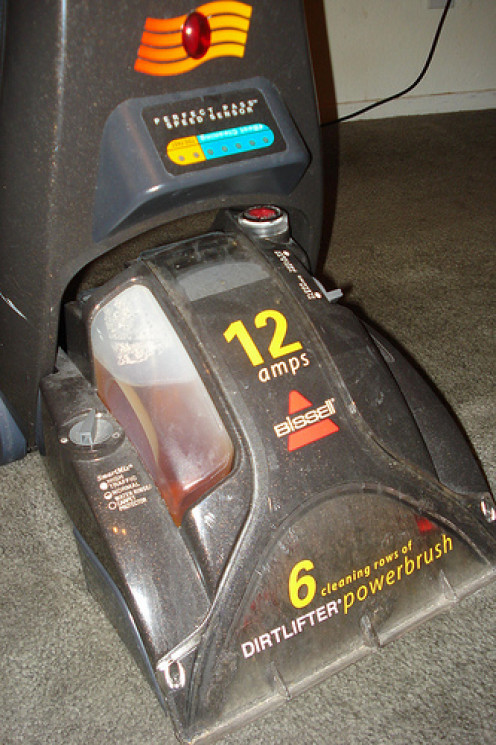 You can have your carpets professionally cleaned. If not, rent or borrow the equipment.