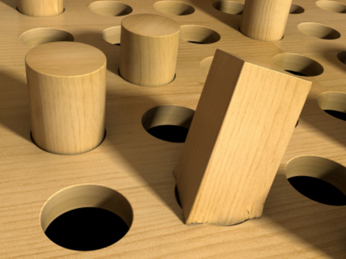 A mental health diagnosis can leave you feeling like a square peg in a round hole!