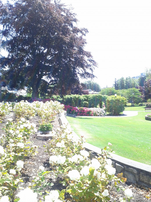 Lanscaped Gardens surround The Empress