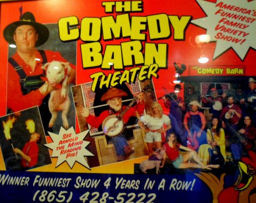 Visit the Comedy Barn Theater for a night of family fun and laughter.