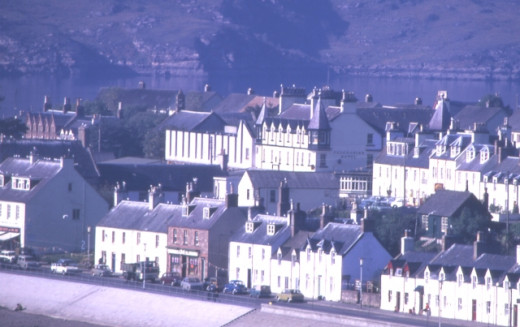 A view of the town of Ullapool on the west coast of Scotland