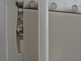 A small switch allows for adjustable thickness.