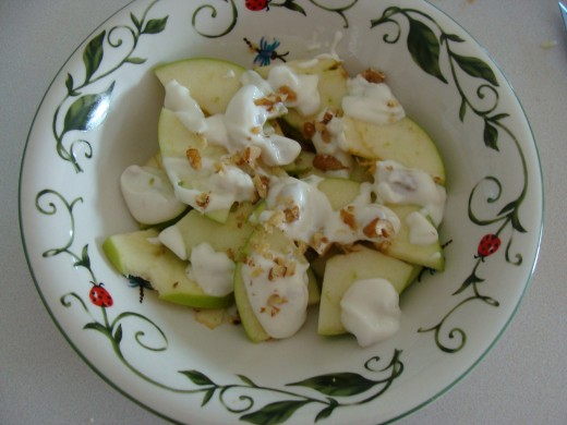 Apple and Yogurt Salad