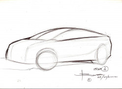 How to sketch a car in perspective by Luciano Bove