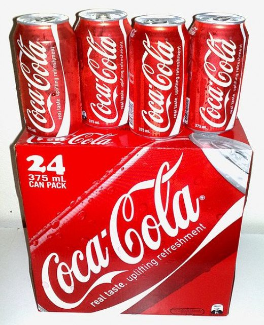 Coca Cola 24-can pack. What is the formula of Coke? It's a closely-guarded secret.