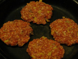 These are the size of the patties precooked in an 18 inch heavy frying pan.