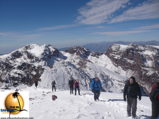 Climbing Jebel Toubkal in the snow. Definitely something I would like to go back to the Atlas Mountains for.
