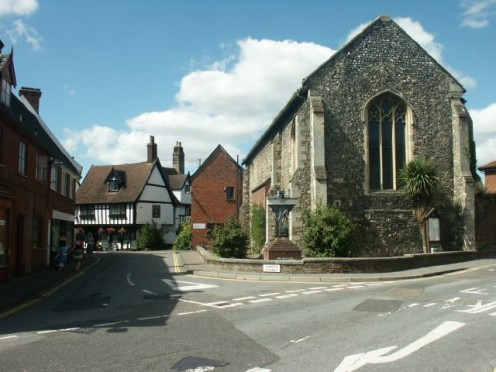 Wymondham. The library housed in Becket's Chapel, 2005