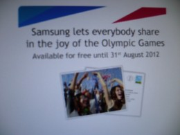 Thank-you Samsung and the Olympic spirit!