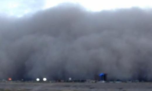 A haboob falling on Phoenix, AZ.