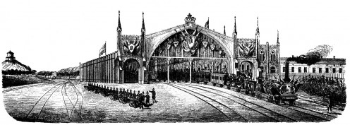 The inauguration of Gothenburg (central) station. Oktober 4, 1858