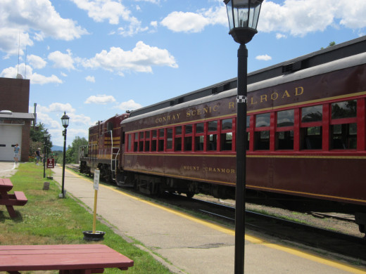 The Conway Scenic Railroad in North Conway, NH