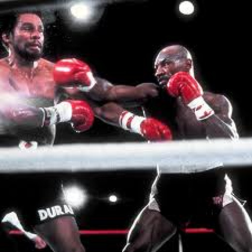 Marvelous Marvin Hagler defeats Roberto Duran in defense of his middleweight title. He defended his championship twelve times.