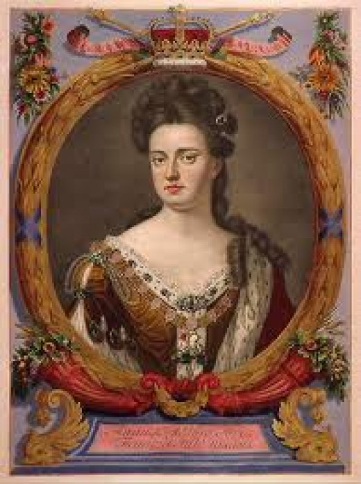 Queen Anne. The last Stuart to rule