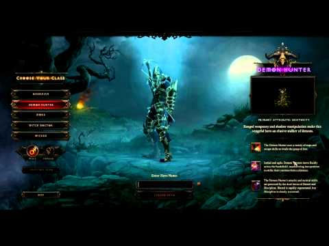 Diablo 3 Demon Hunter Character Creation