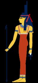 Isis- sister/wife of Osiris