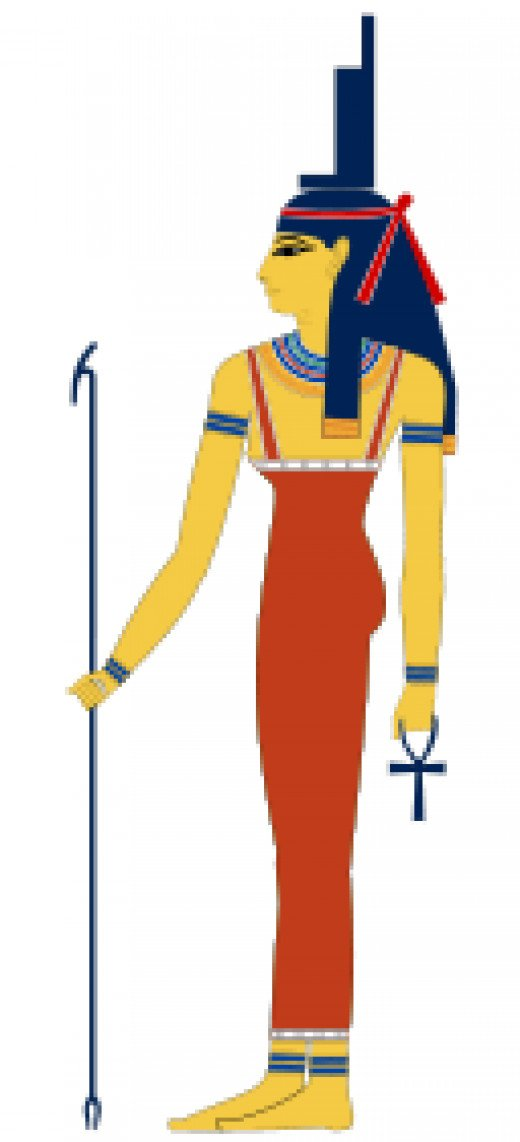 Isis- sister/wife of Osiris