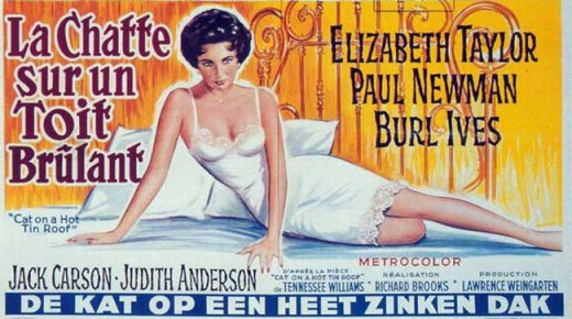 Cat on a Hot Tin Roof (1958) French poster