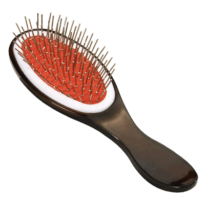 A doll brush works great for synthetic wigs.