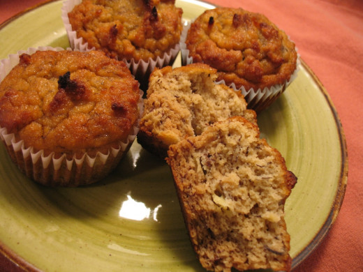 Moist and fluffy gluten-free, dairy-free, Paleo-friendly banana muffins