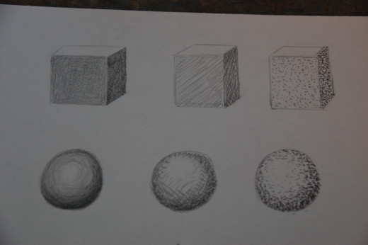 Shaded cubes and spheres