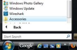 Screenshot: Accessories folder