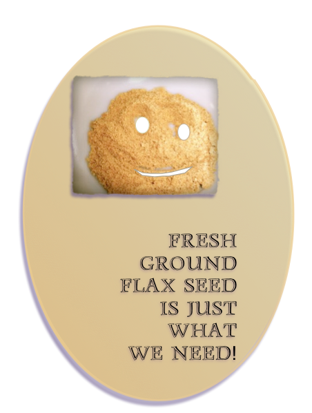 Ground golden flax seed is smart food for dieters.