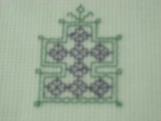 Tulsi Vrindavan, the holy basil motif