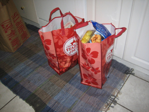 Step 1: Acquire reusable grocery bags