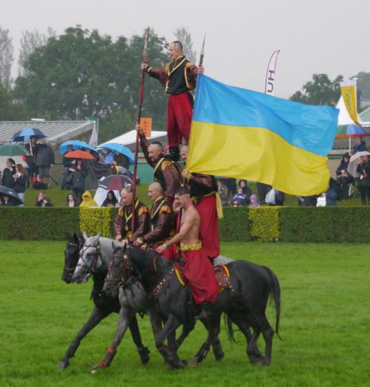 The Ukranian Cossacks have appeared several times at the Royal Welsh with different yet exciting (and dangerous) stunts on horses