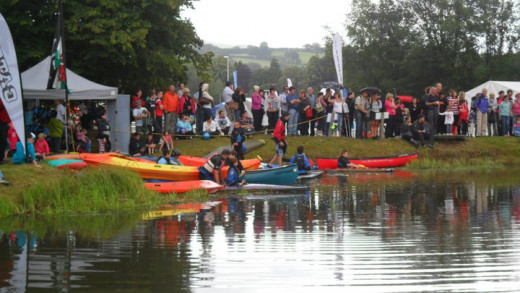 Canoeing competition which you can take part (I had a go and it was really fun came first in a race)