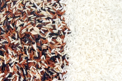 Rice colors can range from black, brown beige to white. The darker the rice, the more nutritious it is.