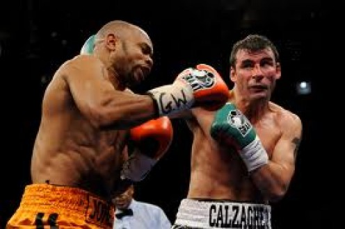 Roy Jones vs.. Joe Calzaghe was fought in the light heavyweight division and Super Joe won a unanimous 12 round decision.