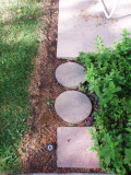 Pavers and bark mulch work well too.