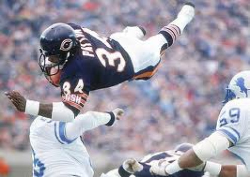 Walter Payton was a Hall of fame running back for the Chicago Bears. He had some of the most amazing moves in pro football history.