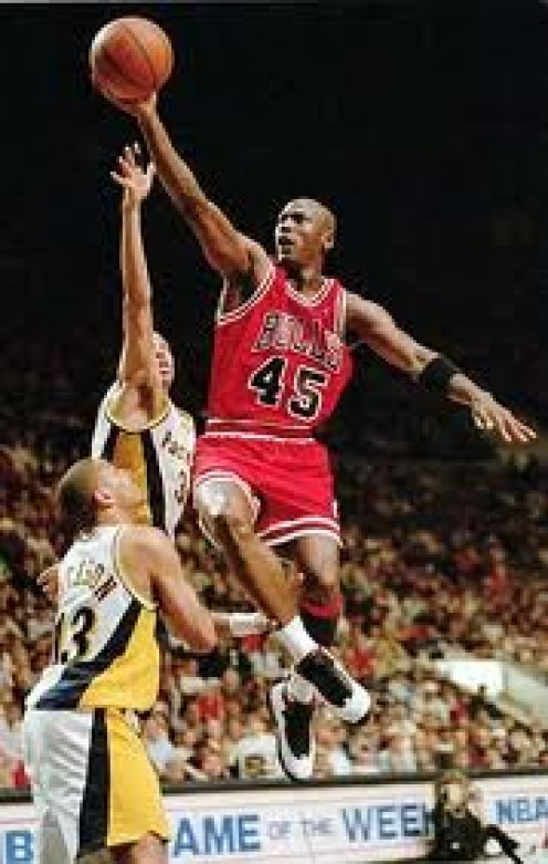 Michael Jordan has won six NBA Championships for the Chicago Bulls. He is regarded by many as the best basketball player to ever grace the court.