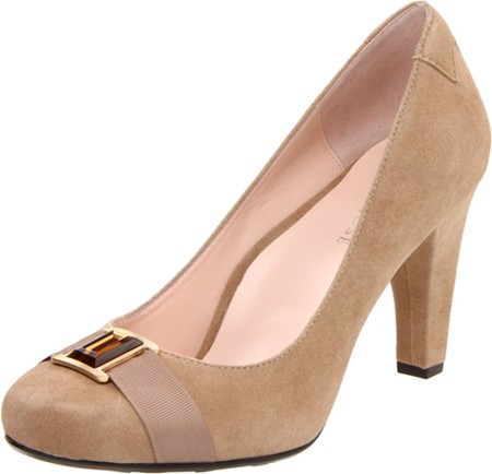 "Taryn Rose ""Patsy"" High Heel pump in beige suede"