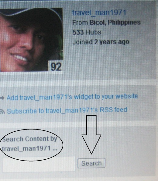Search Content (Photo Source: Travel Man)
