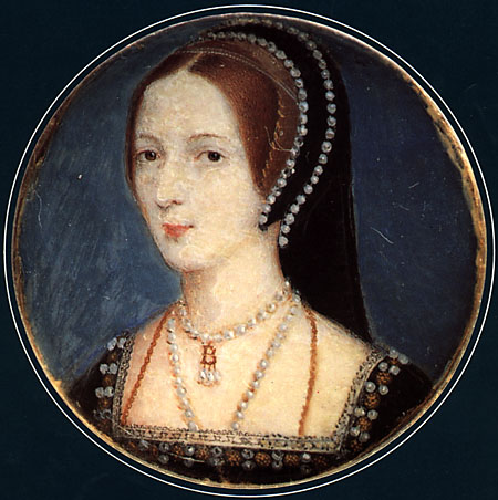 A miniature of Anne Boleyn.