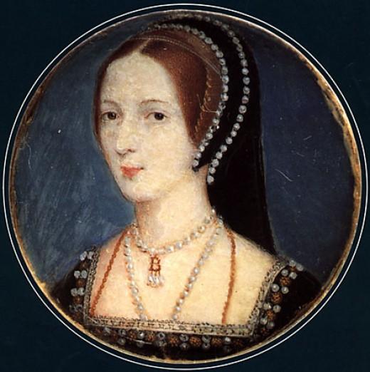 A miniature of Anne Boleyn.